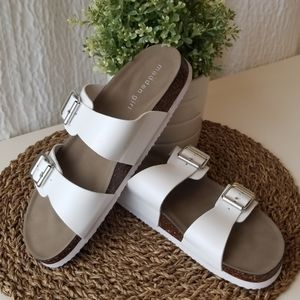 Madden Girl women's Goldiie sandals in white